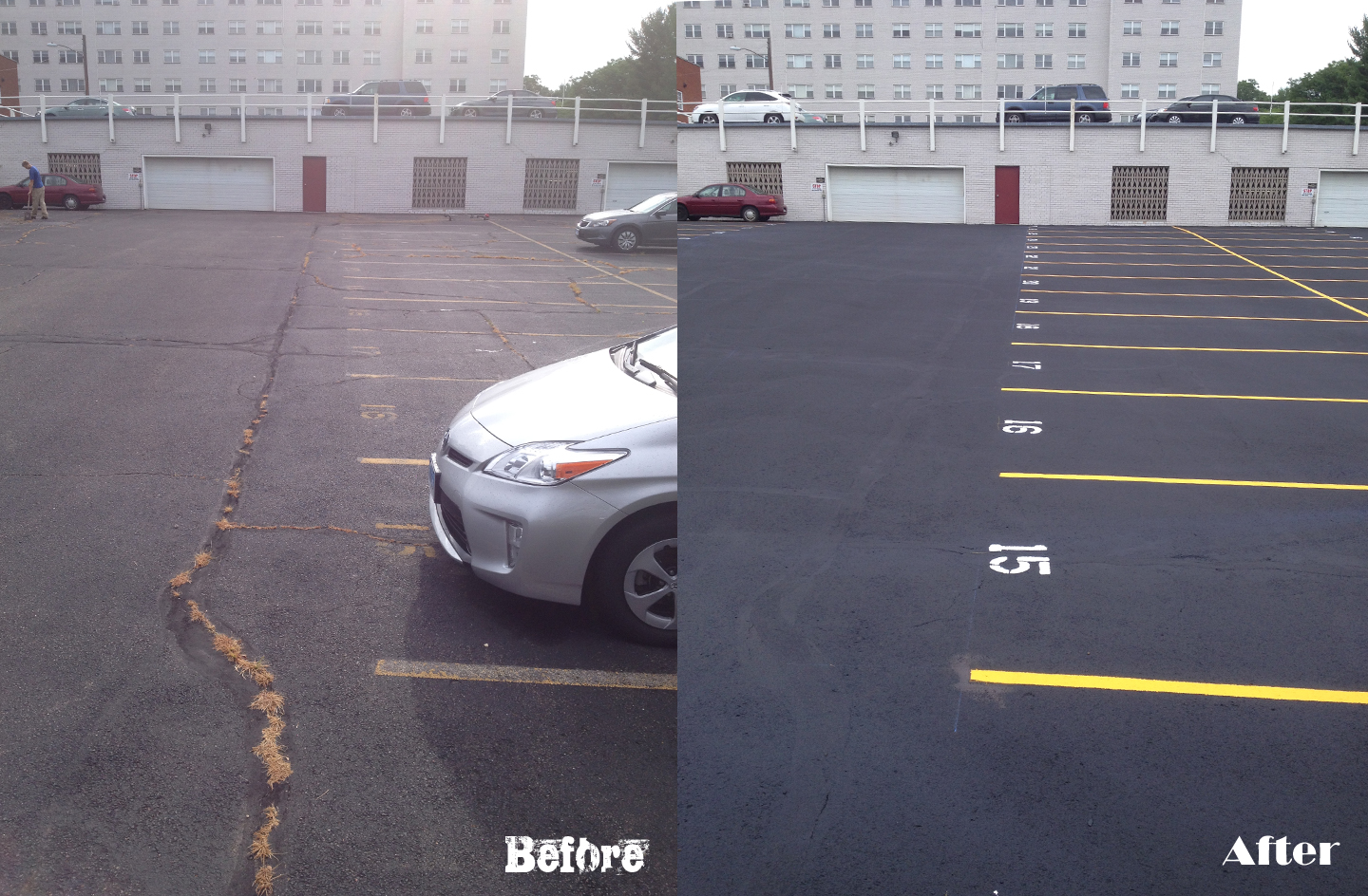 Before and After: Commercial Parking Lot