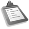 Grey Clipboard Icon